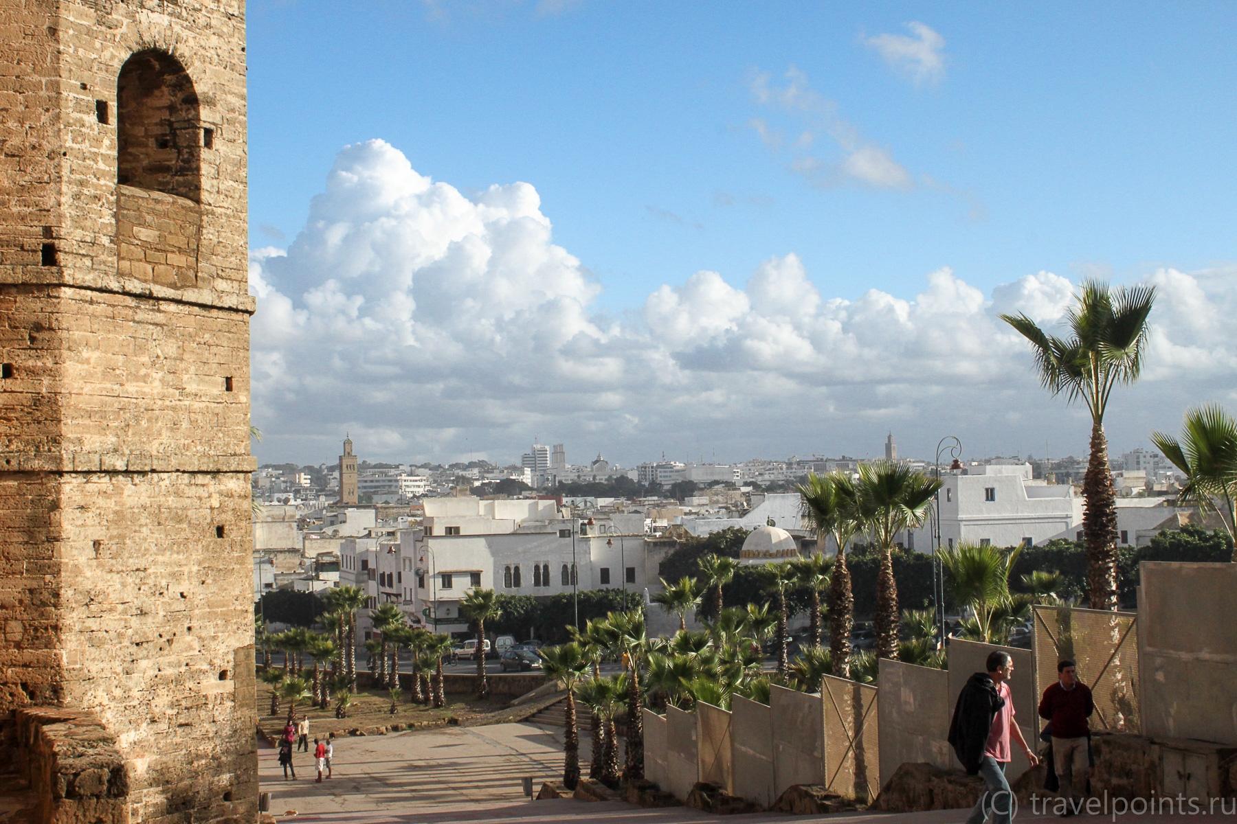 Вид на город от ворот Касбы
