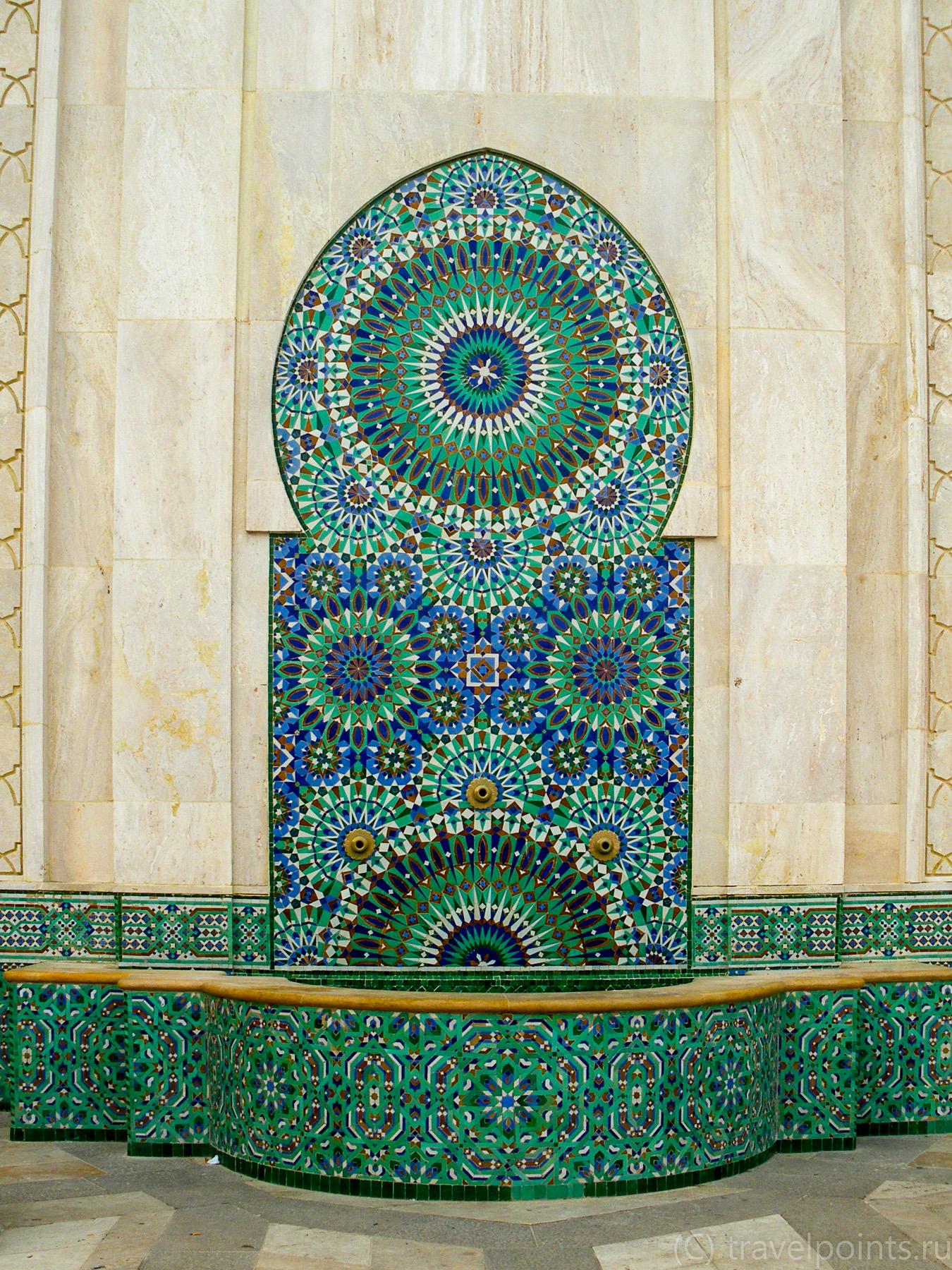 Декор в мечети Хасана в Касабланке