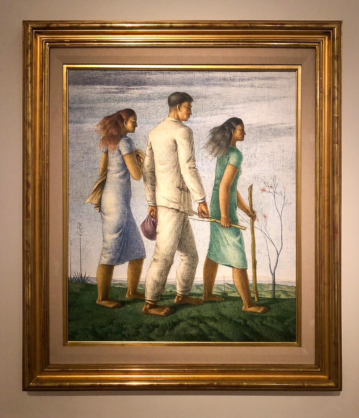 Эктор Полео. Три шагающие фигуры. 1943