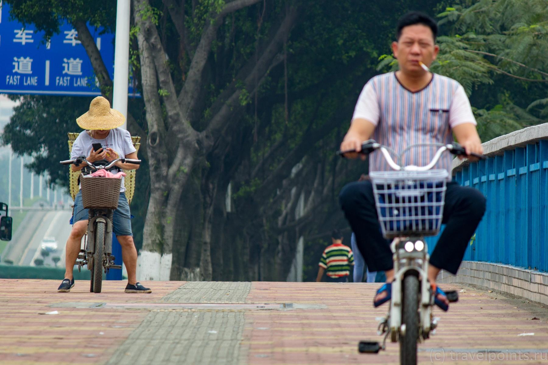 Езда на велосипедах в Гуанчжоу