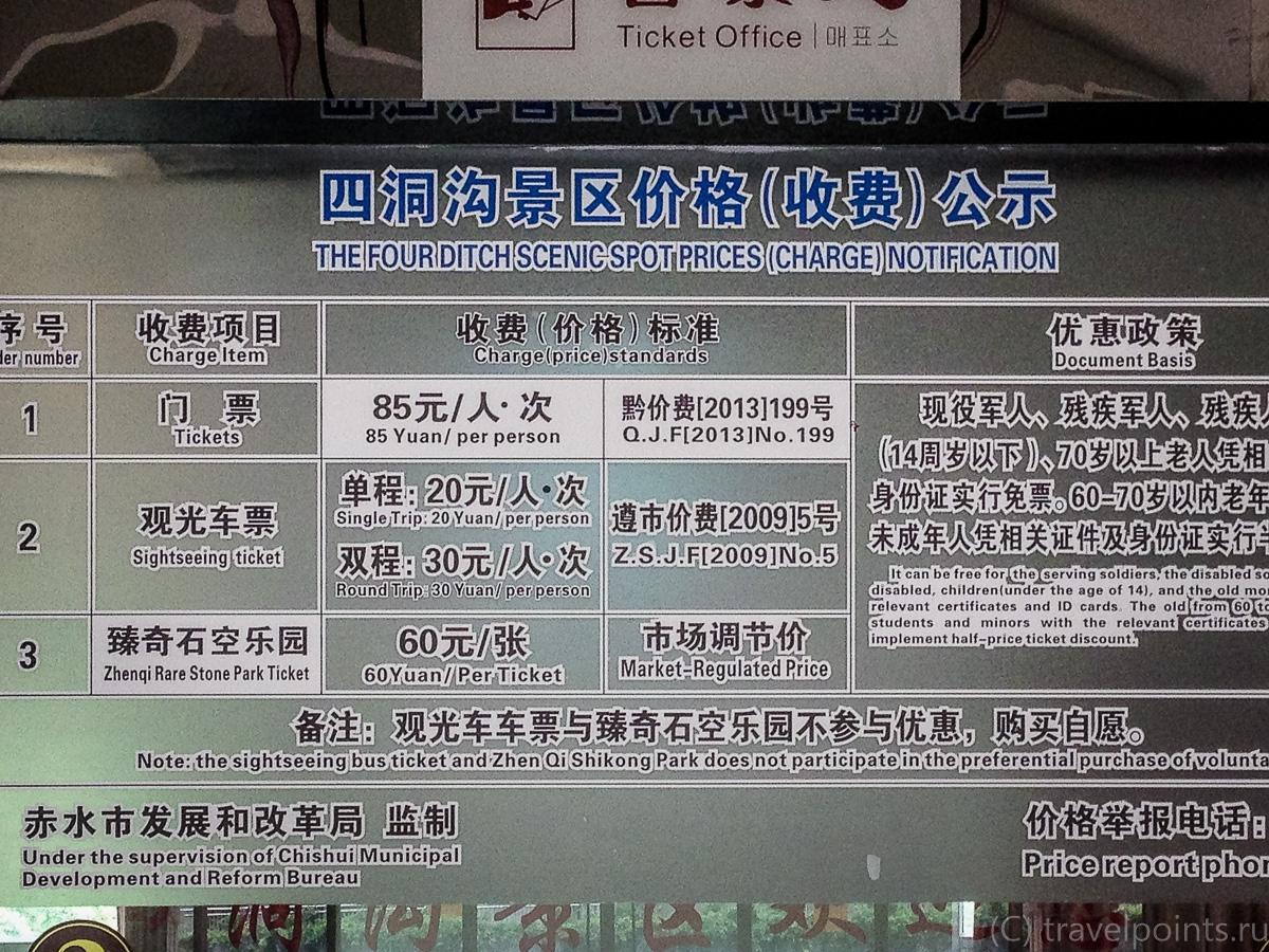 Прайс на вход в Сидонгоу