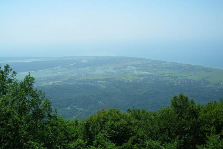 Вид с горы перед стартом