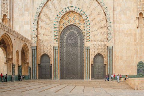 Мечеть Хасана, вход